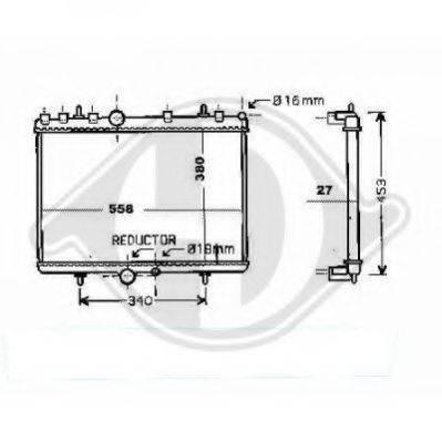 DIEDERICHS 8424306 Радиатор, охлаждение двигателя