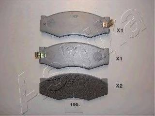 ASHIKA 5001195 Комплект тормозных колодок, дисковый тормоз