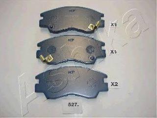 ASHIKA 5005527P Комплект высокоэффективных тормозных колодок