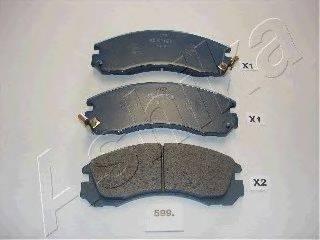 ASHIKA 5005599P Комплект высокоэффективных тормозных колодок