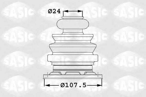 SASIC 1906003 Комплект пылника, приводной вал