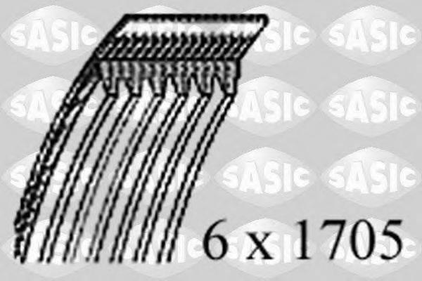 SASIC 1770015 Поликлиновой ремень