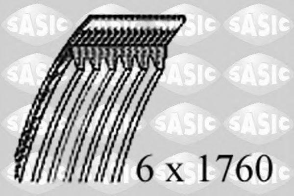 SASIC 1776077 Поликлиновой ремень