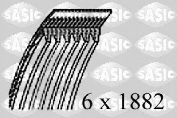 SASIC 1776085 Поликлиновой ремень