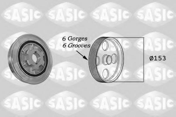 SASIC 2150023 Ременный шкив, коленчатый вал