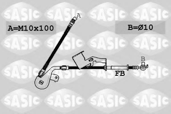 SASIC 6600064 Тормозной шланг