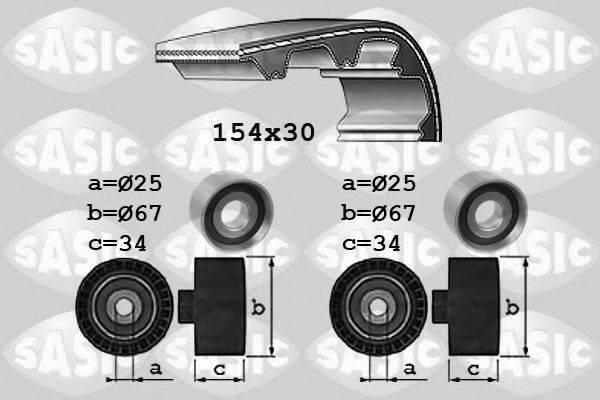SASIC 1750037 Комплект ремня ГРМ