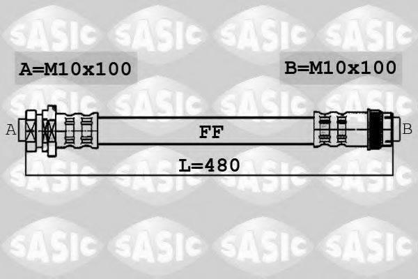 SASIC 6604029 Тормозной шланг
