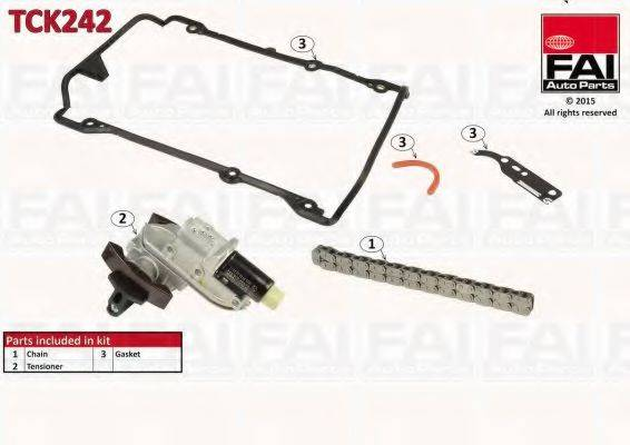 FAI AUTOPARTS TCK242 Комплект цели привода распредвала