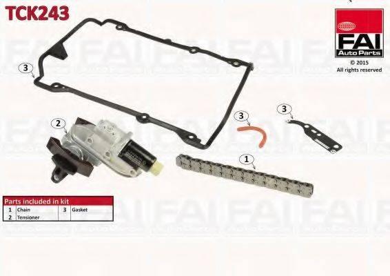 FAI AUTOPARTS TCK243 Комплект цели привода распредвала