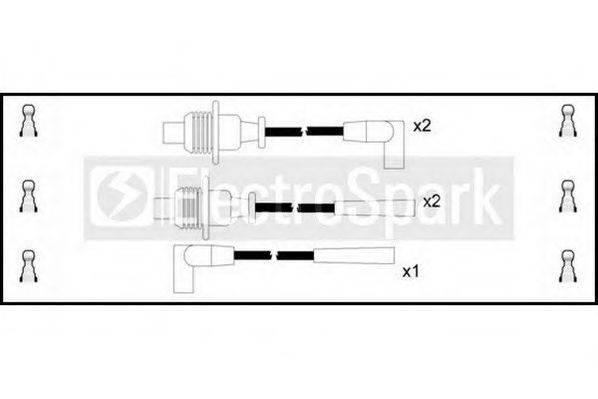 STANDARD OEK066 Комплект проводов зажигания