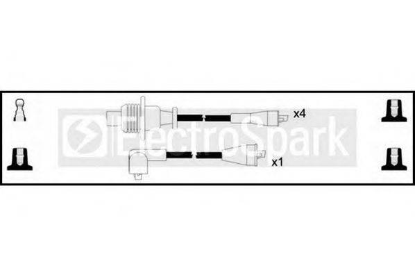 STANDARD OEK974 Комплект проводов зажигания