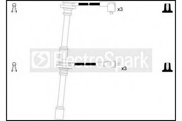 STANDARD OEK368 Комплект проводов зажигания