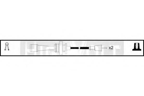STANDARD OEF124 Комплект проводов зажигания