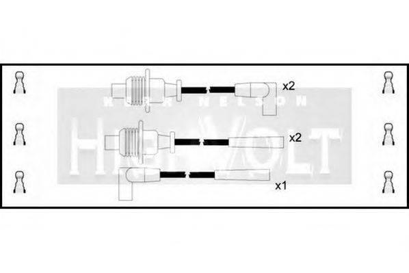 STANDARD OEF057 Комплект проводов зажигания