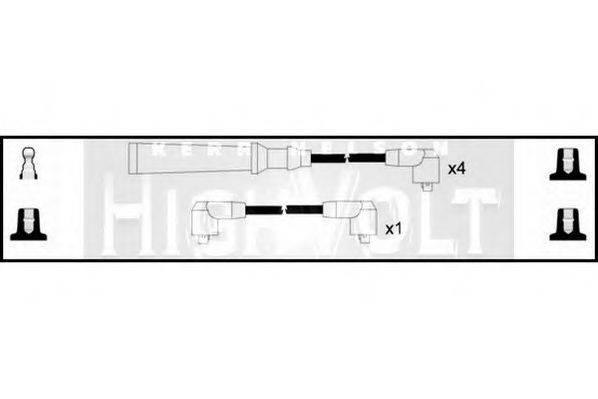 STANDARD OEF603 Комплект проводов зажигания