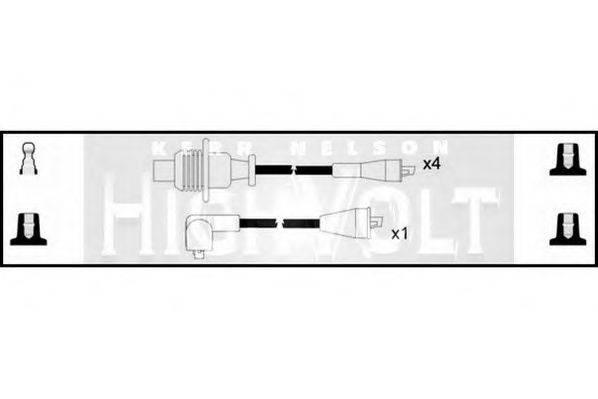 STANDARD OEF977 Комплект проводов зажигания