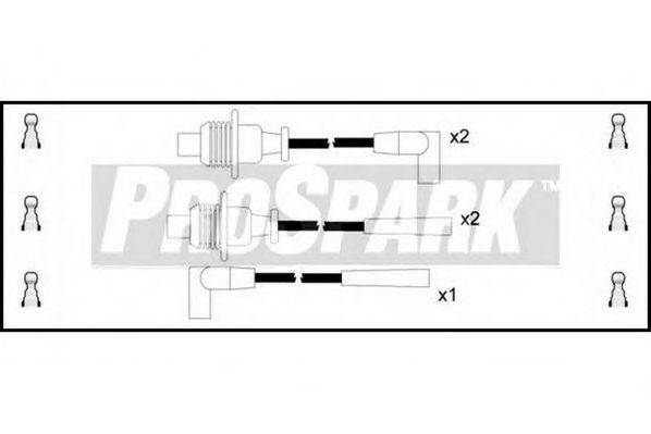 STANDARD OES128 Комплект проводов зажигания
