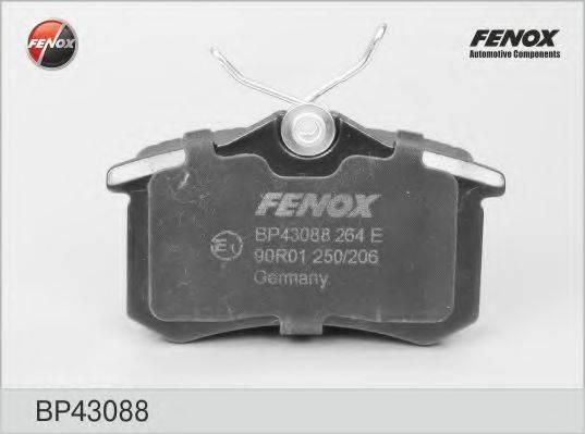 FENOX BP43088 Комплект тормозных колодок, дисковый тормоз