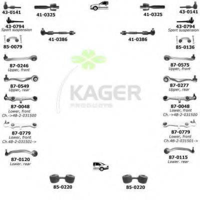 KAGER 800114 Подвеска колеса