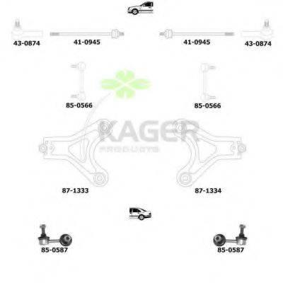 KAGER 800873 Подвеска колеса