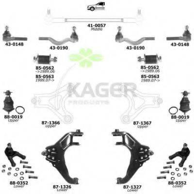 KAGER 800874 Подвеска колеса