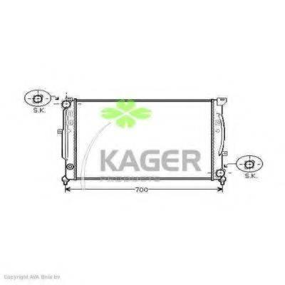 KAGER 310029 Радиатор, охлаждение двигателя