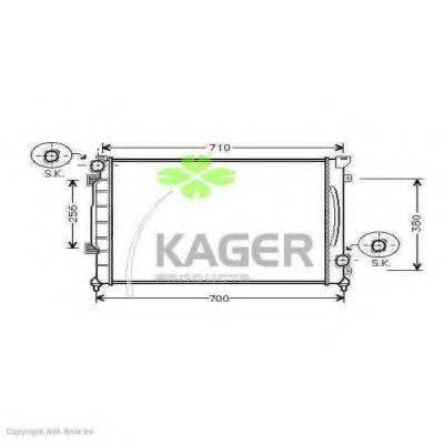 KAGER 310032 Радиатор, охлаждение двигателя