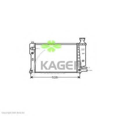 KAGER 310843 Радиатор, охлаждение двигателя
