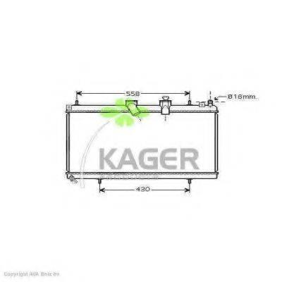 KAGER 311853 Радиатор, охлаждение двигателя