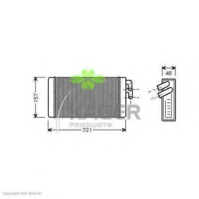 KAGER 320001 Теплообменник, отопление салона