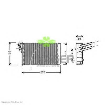 KAGER 320002 Теплообменник, отопление салона