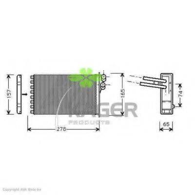 KAGER 320004 Теплообменник, отопление салона