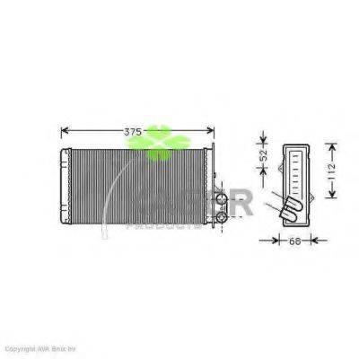 KAGER 320306 Теплообменник, отопление салона