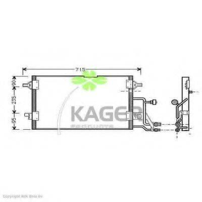 KAGER 945002 Конденсатор, кондиционер