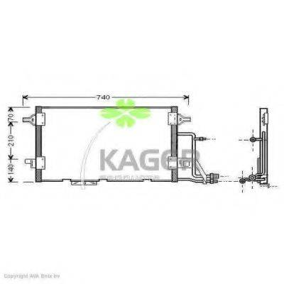 KAGER 945007 Конденсатор, кондиционер