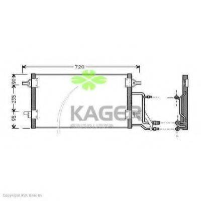 KAGER 945008 Конденсатор, кондиционер