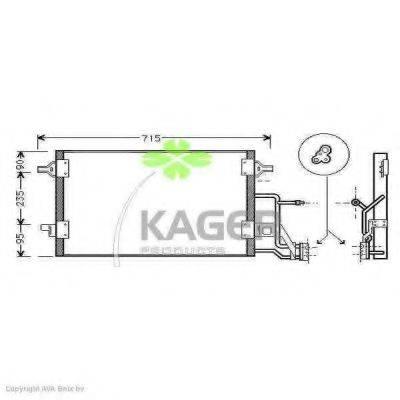 KAGER 945009 Конденсатор, кондиционер