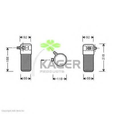 KAGER 945018 Осушитель, кондиционер