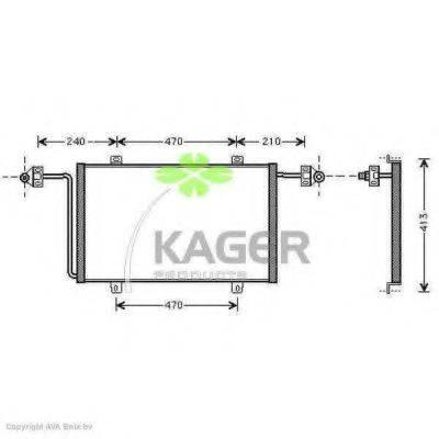 KAGER 945324 Конденсатор, кондиционер