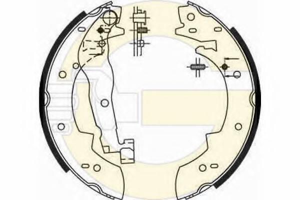 GIRLING 5161901 Комплект тормозных колодок