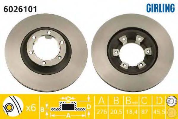 GIRLING 6026101 Тормозной диск