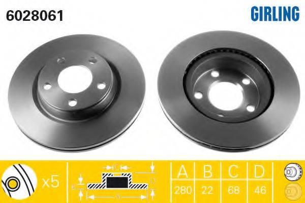 GIRLING 6028061 Тормозной диск