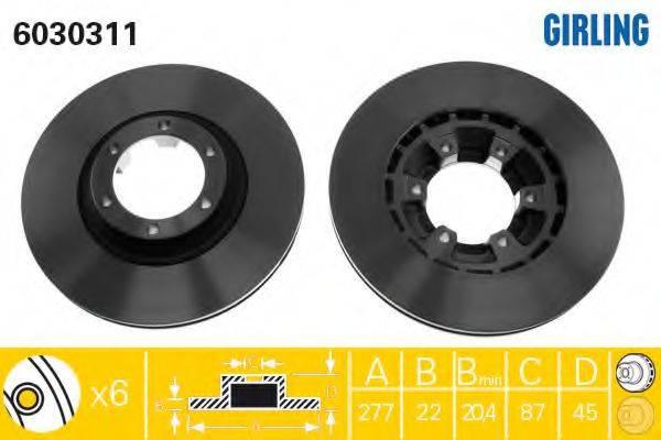 GIRLING 6030311 Тормозной диск