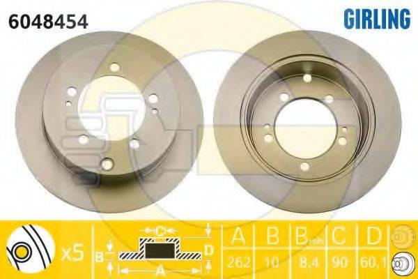 GIRLING 6048454 Тормозной диск