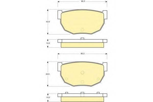 GIRLING 6103069 Комплект тормозных колодок, дисковый тормоз