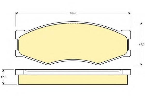 GIRLING 6103189 Комплект тормозных колодок, дисковый тормоз