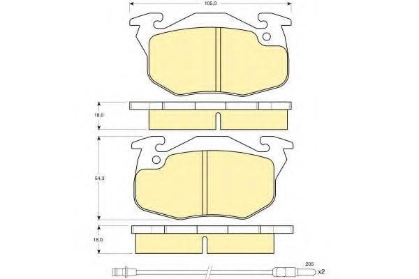 GIRLING 6103273 Комплект тормозных колодок, дисковый тормоз