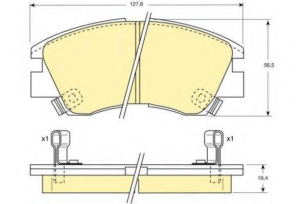 GIRLING 6107299 Комплект тормозных колодок, дисковый тормоз