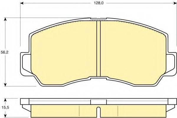 GIRLING 6107859 Комплект тормозных колодок, дисковый тормоз
